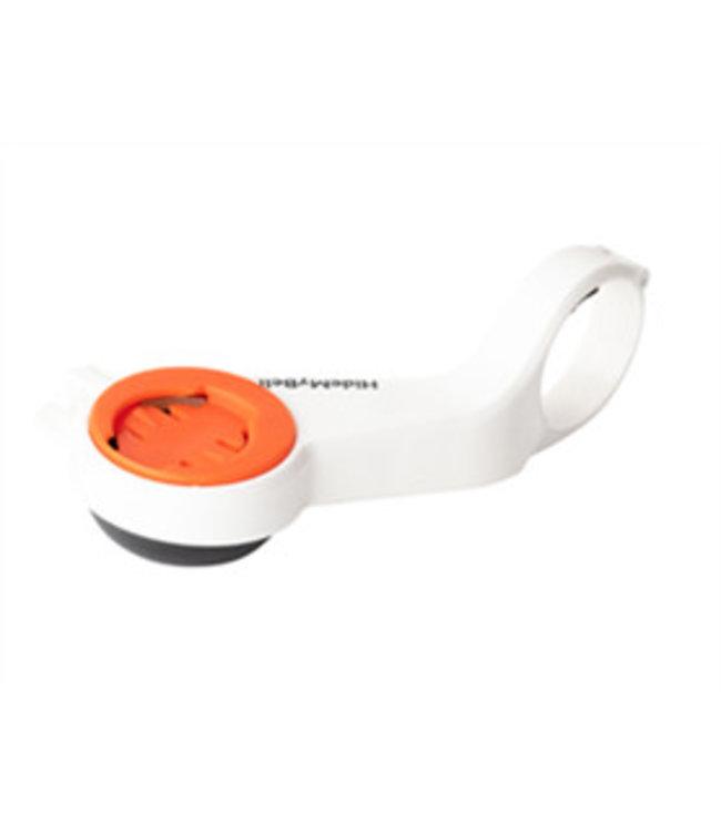 HideMyBell HIDEMYBELL Support de guidon avec cloche de bicyclette Blanc