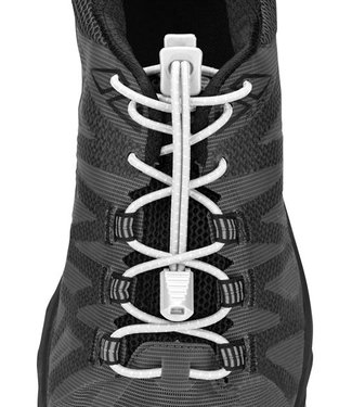 Lock Laces Nathan Run Laces White