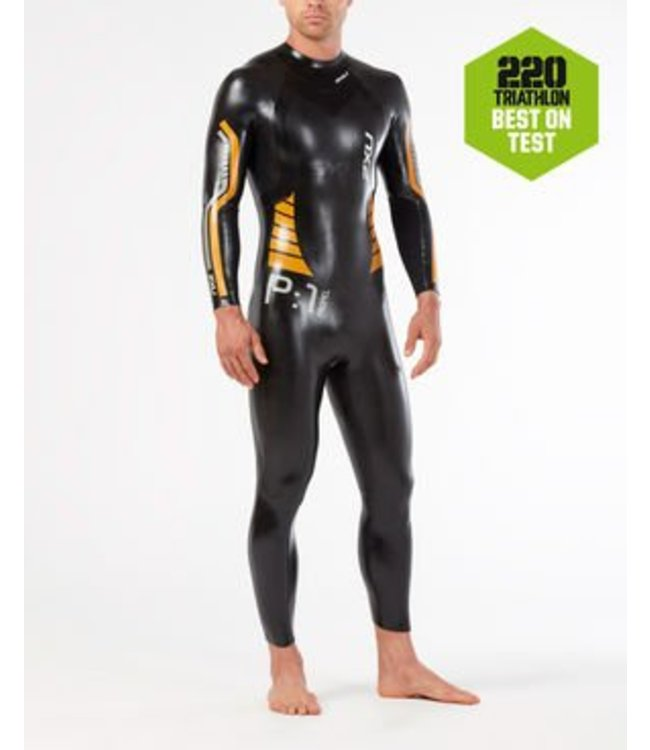 2XU 2XU P: 1 PROPEL wetsuit Heren zwart / oranje