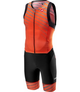 Castelli Castelli Free Sanremo Suit Sleeveless Orange