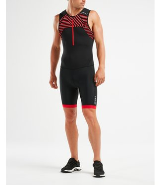 2XU 2XU Active Trisuit Heren Zwart/Rood