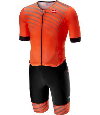 Castelli Castelli Free Sanremo Suit Tri-Fonction avec manches courtes Orange
