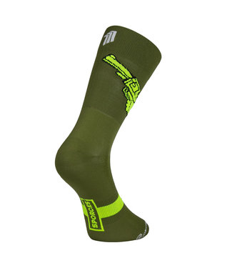 Sporcks Sporcks Gun Green Cycling Socks
