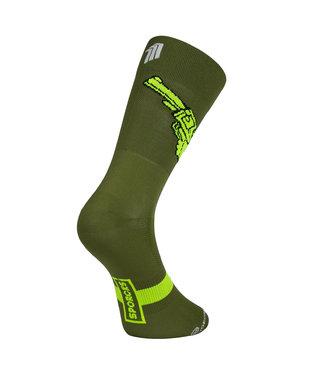 Sporcks Sporcks Las armas calcetines de ciclismo verdes