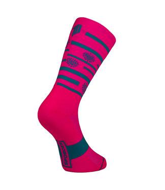 Sporcks Sporcks Splinders Hut calcetines de bicicleta rosa