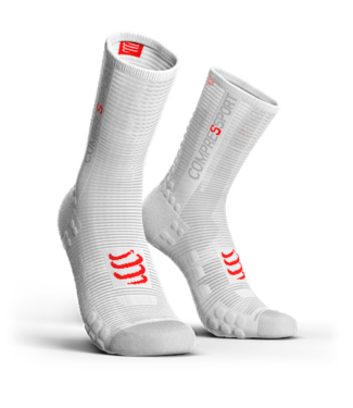 Compressport Compressport PRORACING V3.0 Calcetines de ciclismo blancos