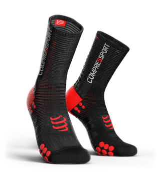 Compressport Chaussettes Compressport PRORACING V3.0 Noir-Rouge