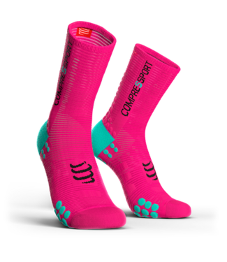 Compressport Chaussettes Compressport PRORACING V3.0 Rose Fluo