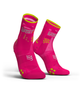 Compressport Chaussettes Compressport Running PRORACING High Ultralight V3.0 Rose