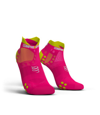 Compressport Compressport Hardloopsokken PRORACING Low Ultralight V3.0 Roze