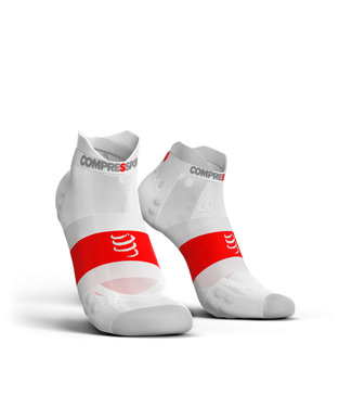 Compressport Compressport Hardloopsokken PRORACING Low Ultralight V3.0 Wit