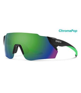 SMITH Smith Attack Max Radsportbrille schwarz matt mit Reactor Chroma Green Linse