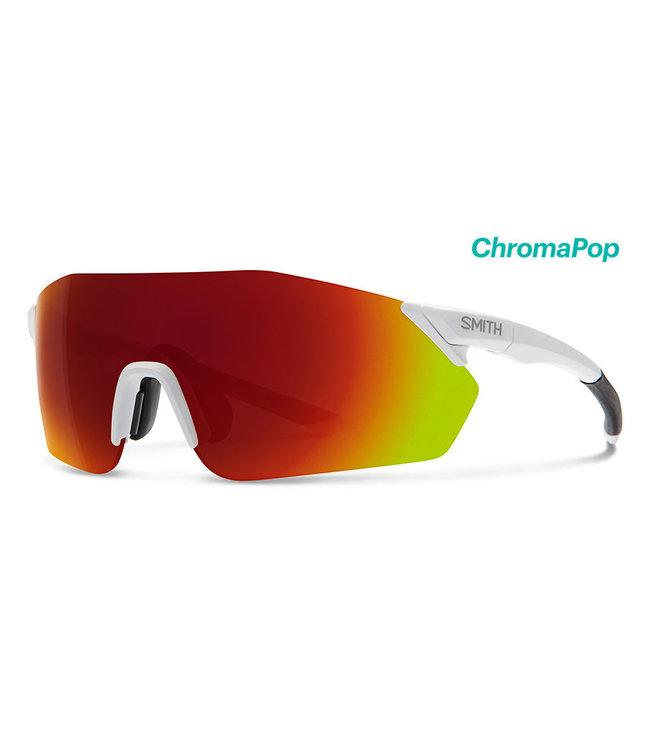 SMITH Gafas de ciclismo Smith Reverb Mat-White con lente Chroma roja