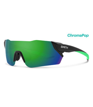 SMITH Smith Attack Cycling Glasses Matt Black with Reactor Chroma Green lens