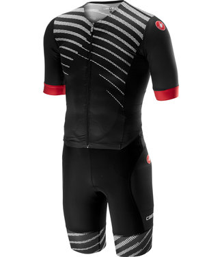 Castelli Castelli Free Sanremo Suit Short Sleeves Black/White