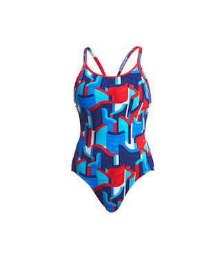 Funkita Funkita One Piece Diamond Back Dames Block Rock