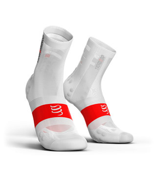 Compressport Chaussettes de cyclisme Compressport PRORACING V3.0 Ultralight, blanc