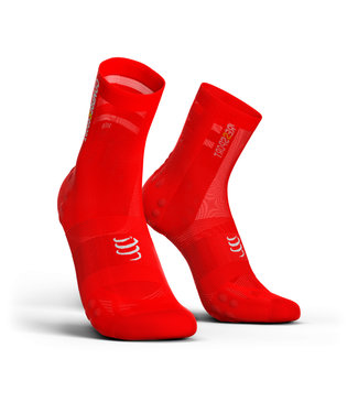 Compressport Chaussettes de vélo Compressport PRORACING V3.0 Ultralight, rouges