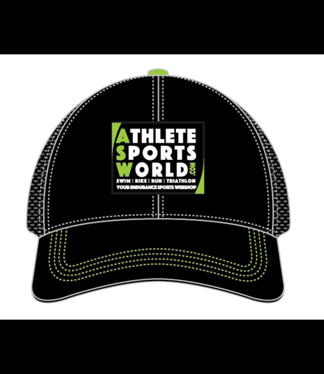 AthleteSportsWorld.com ASW Boco Technical Trucker Cap Schwarz