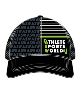 AthleteSportsWorld.com ASW Boco Technical Trucker Casquette Noir-Gris