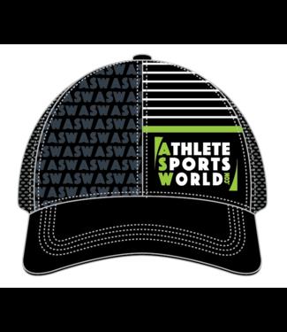 AthleteSportsWorld.com Gorra técnica de camionero ASW Boco Negro-Gris