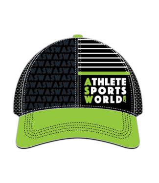 AthleteSportsWorld.com ASW Boco Technical Trucker Cap Noir - Vert