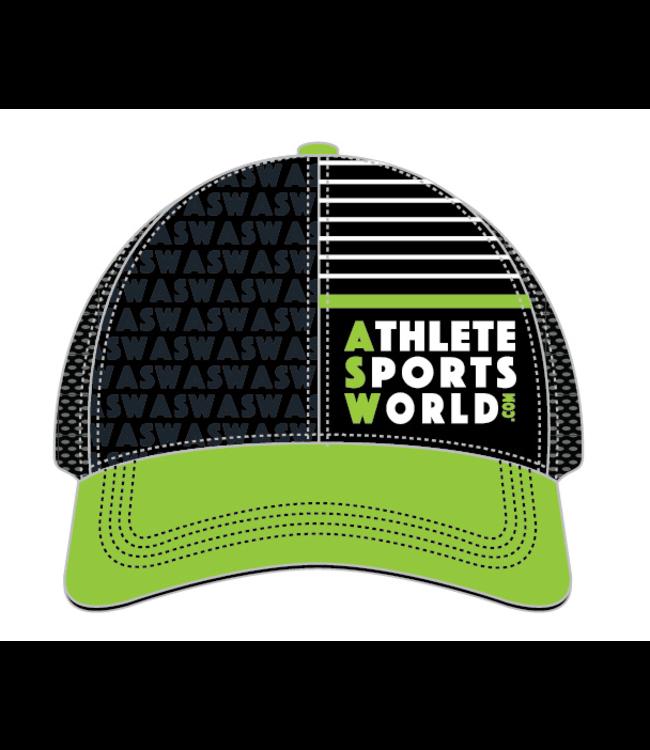 AthleteSportsWorld.com ASW Boco Technical Trucker Cap Noir - Vert