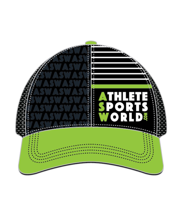 AthleteSportsWorld.com Berretto da camion tecnico ASW Boco Nero - Verde