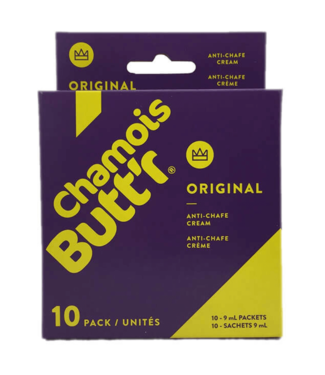 Chamois Butt'r Chamois Butt'r Original Pack de crème de chamois (10x9 ml)