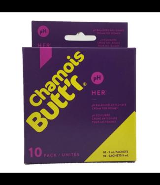 Chamois Butt'r Chamois Buttr 'Original crema de gamuza para mujer - (10x 9ml)