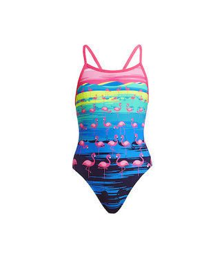 Funkita Funkita One Piece Single Strap Girls One Flamingo Flood