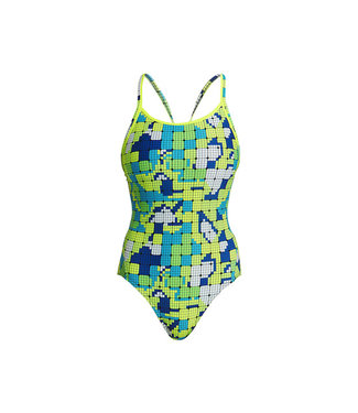 Funkita Funkita One Piece Diamond Back Swimsuit Ladies Glow Rider