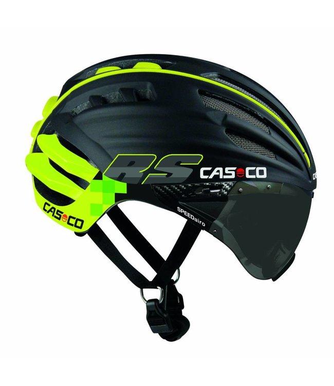 Casco Casco SpeedAiro RS Black - Citron vert (visière vautron)