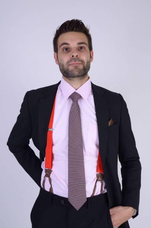 English Fashion Zijden Stropdas Donkerrood geruit
