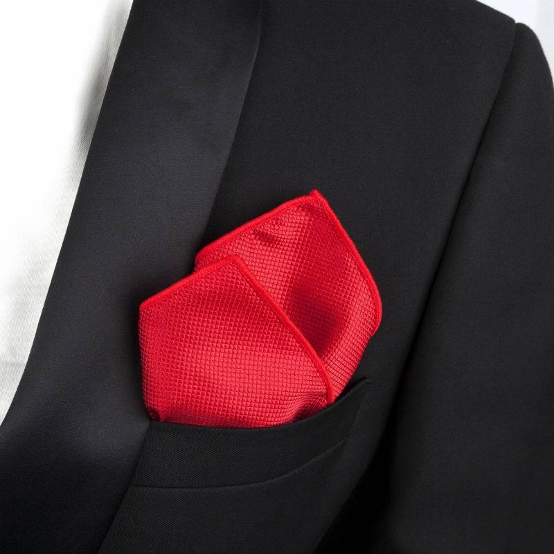 English Fashion Dark red Satin Hanky