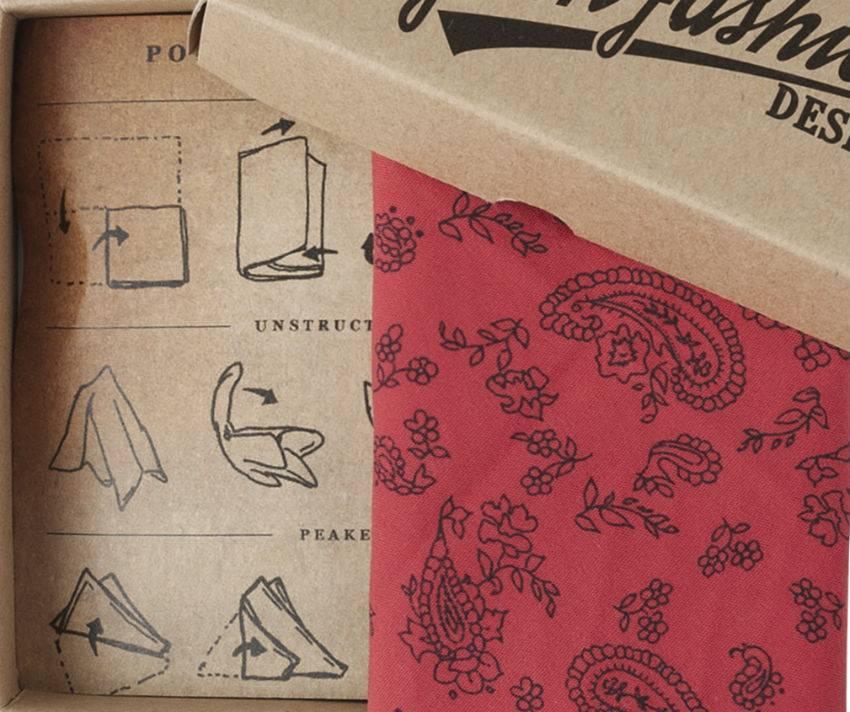 English Fashion pochette rood met Paisley