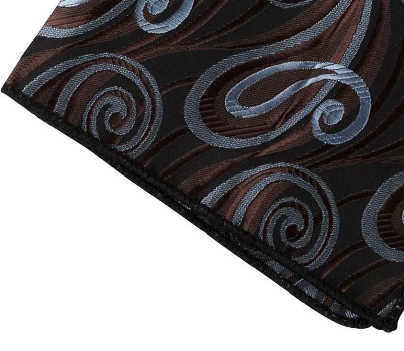 English Fashion Pocket squares brown and blue