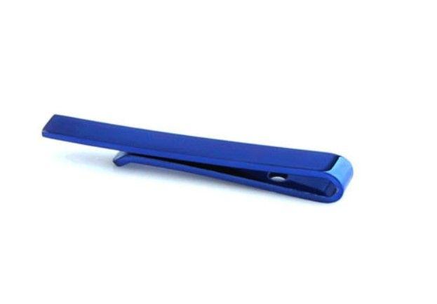 English Fashion Designer Tie Clip Blue