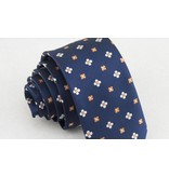 English Fashion Skinny Tie Floral Blue