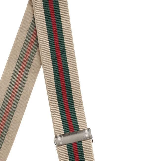 English Fashion Elastische bretellen gestreept met 6 clipjes