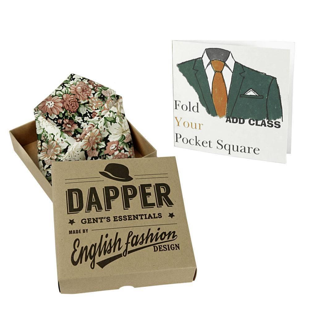 English Fashion Cotton Pocket Squares - Floral