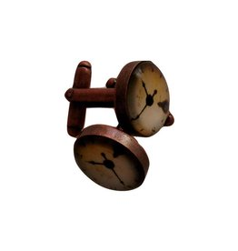 English Fashion Cuff Links Clock Design