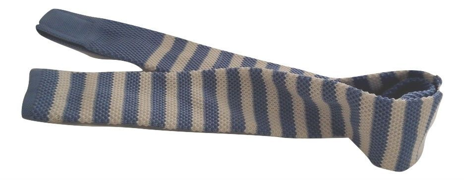 English Fashion Light Blue knitted tie
