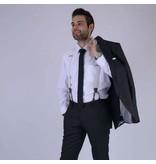 English Fashion Braces White with leather