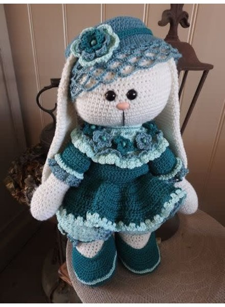 Funny XXL - Funny Bunny Kledingset blauw-groen (enkel kleding, geen bunny!)
