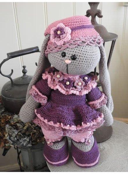 Funny XXL - Funny Bunny Kledingset roze (enkel kleding, geen bunny!)