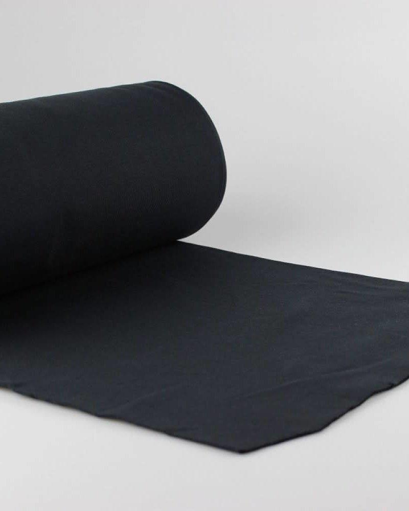 Boordstof - Zwart - Coupon 50 cm