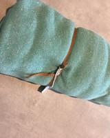 Sweat - Groen glitter - Coupon 1m