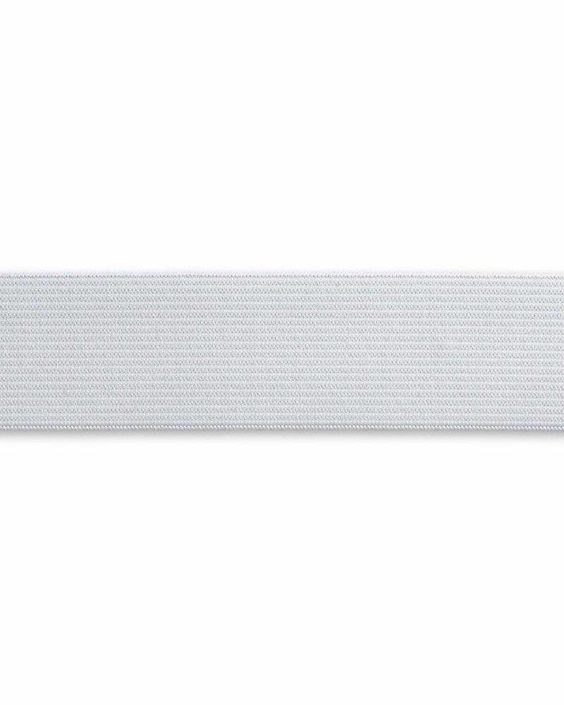 Band-elastiek zacht wit 30 mm (1m)