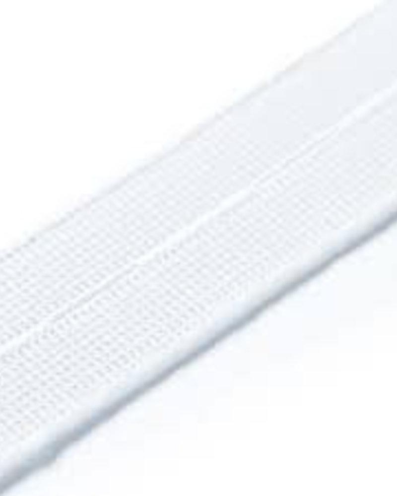 Knoopsgaten-elastiek gebroken wit 25 mm (1m)